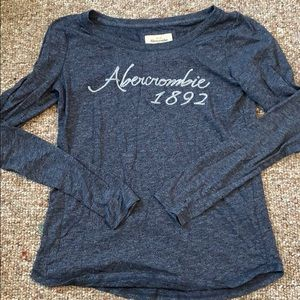 dark blue abercrombie and fitch long sleeve